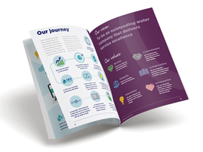 Graphic brochure for SES long term vision